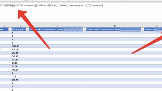 Как найти значение в списке и вернуть свой вариант в Excel
