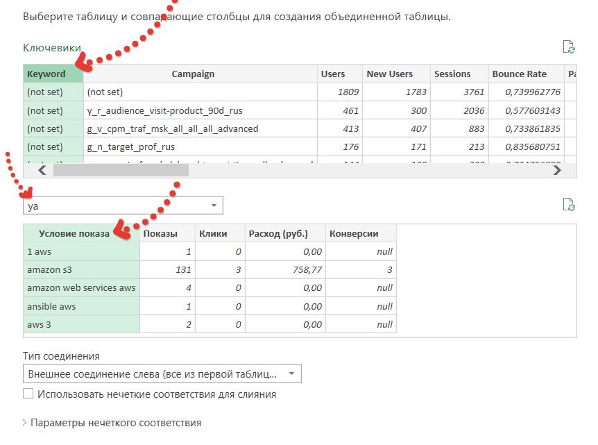 Функция ВПР в Power Query или объединение таблиц